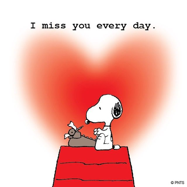 Snoopy clipart miss you On Pinterest best Quotes You