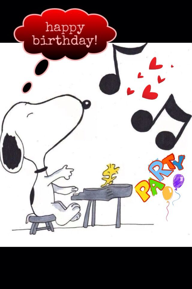 Snoopy clipart singing Best and this Birthday Pinterest