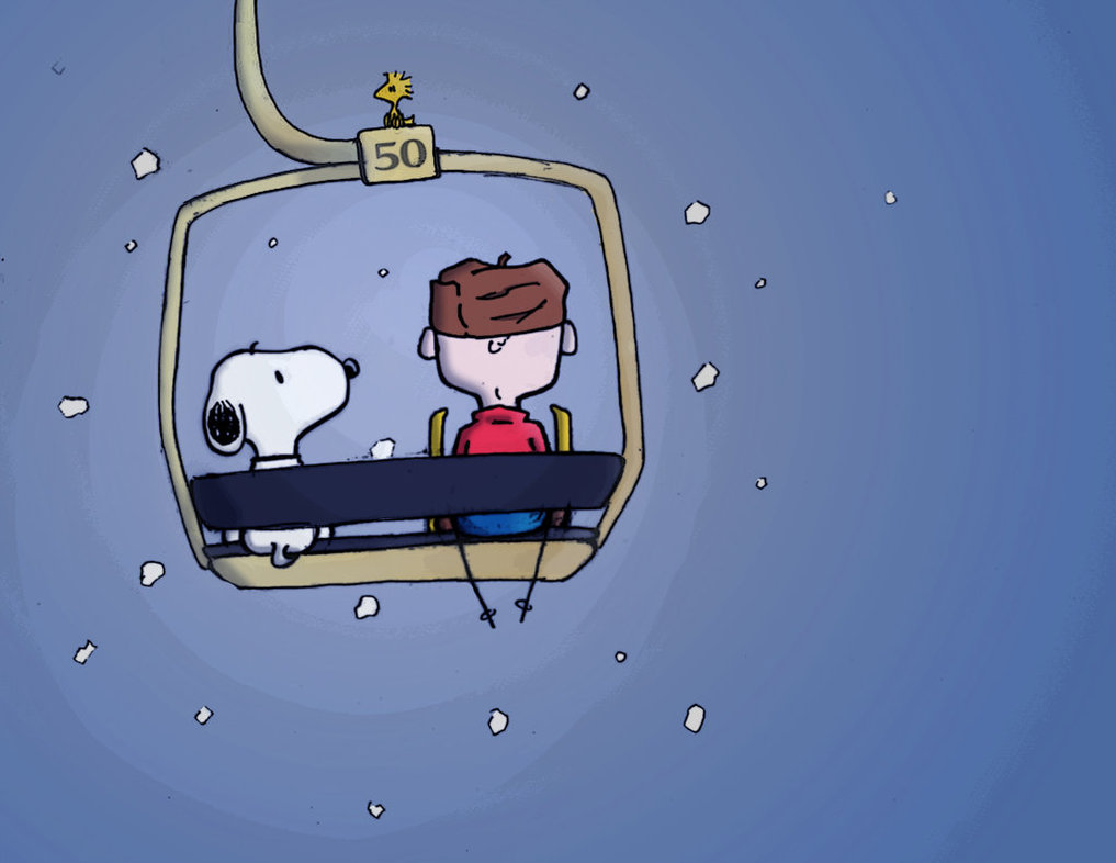 Snoopy clipart skiing Charlie Brown and by Brown