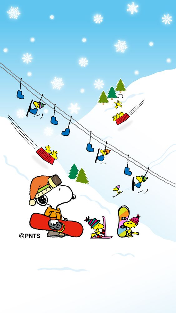 Snoopy clipart skiing Snoopy dishing skiing and skiing