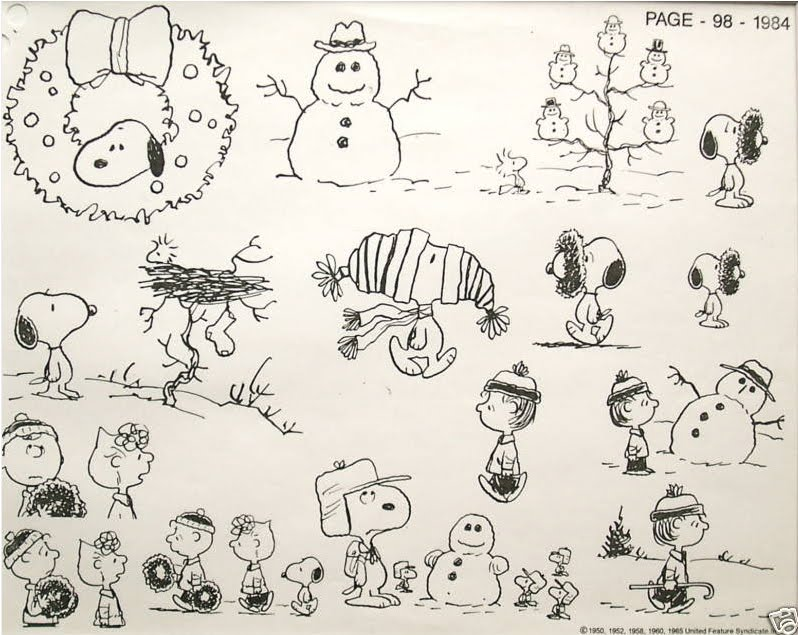 Snoopy clipart snowman Model Sheets Bill Model Sheets