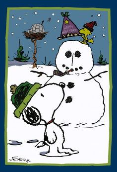 Snoopy clipart snowman Cute tree the the Snoopy!
