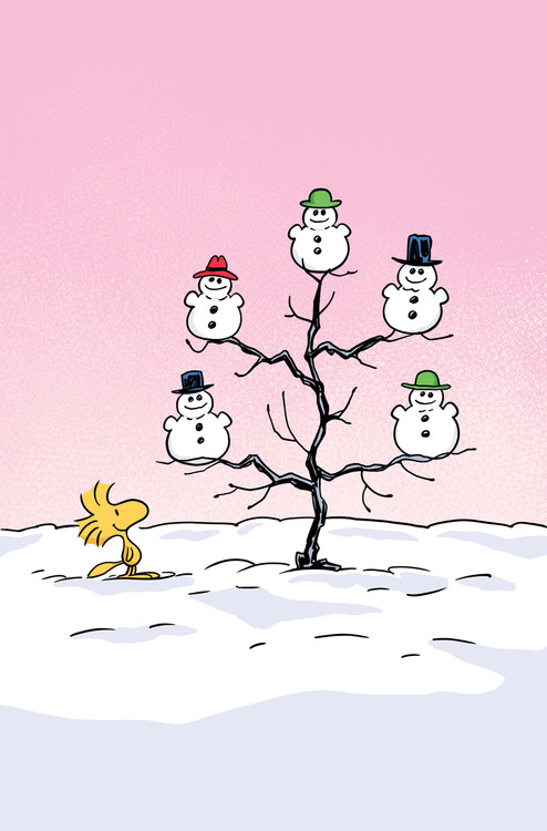 Snoopy clipart snowman Cute tree the the Woodstock's