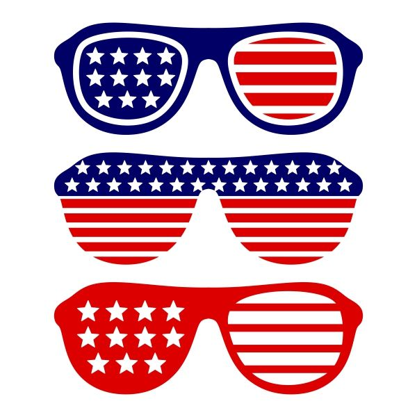 Spectacles clipart shades Cut Digital 4th on Sunglasses