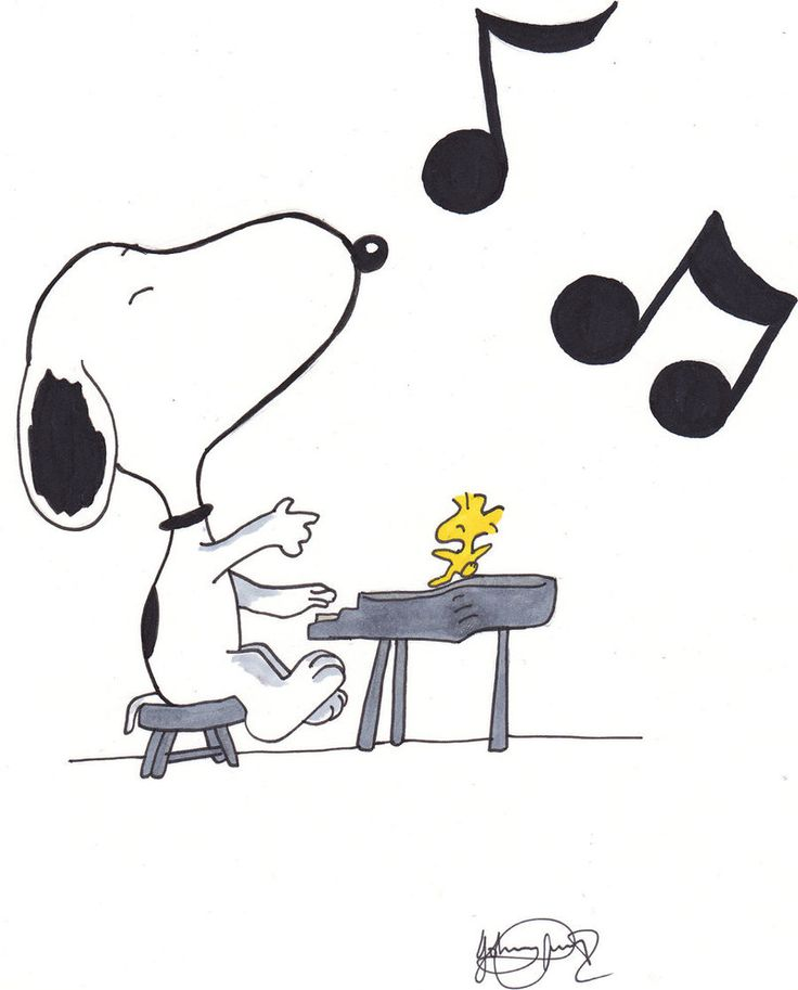 Snoopy clipart thinking ~johnnyism music images Snoopy on