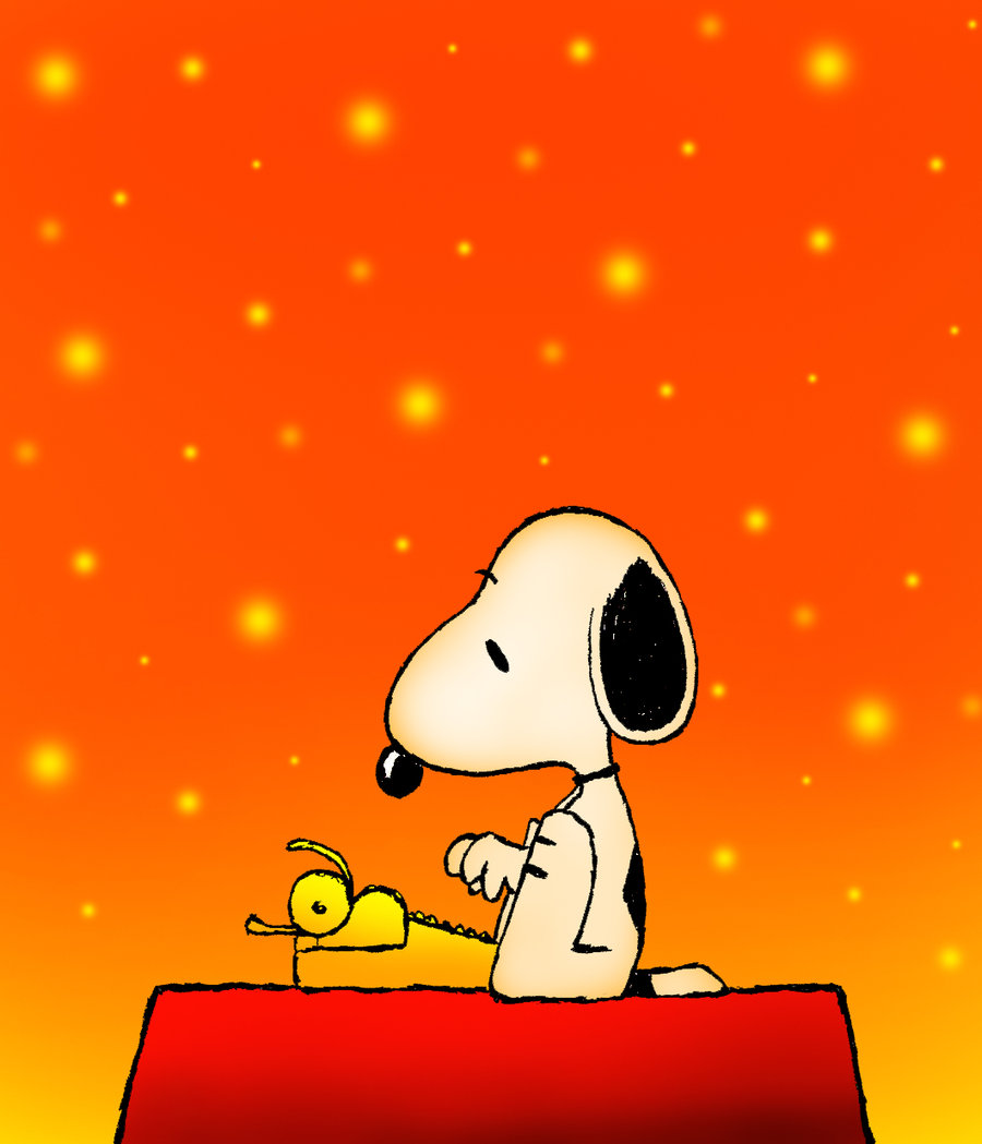 Snoopy clipart typing Typing Snoopy Clipart Clipart The