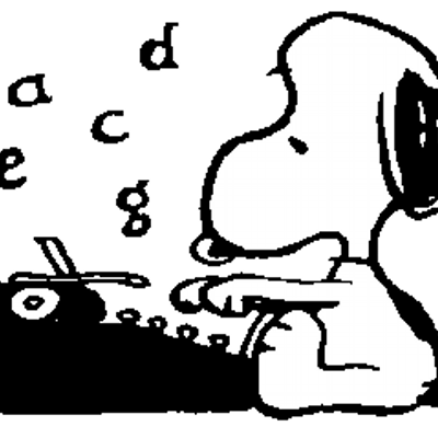 Snoopy clipart typing V A (@AVFMS_alx) F Twitter