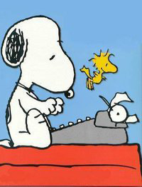 Snoopy clipart typing File Typing Clipart Views Downloads