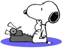 Snoopy clipart typing Art Clipart The  typing