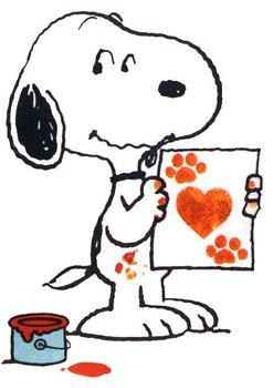 Snoopy clipart typing Valentines Peanuts Clipart cliparts Snoopy