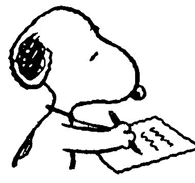 Snoopy clipart writing 4XL or Printed Maker (NS