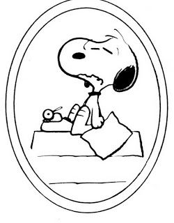 Snoopy clipart writing 169 Art and writing Snoopy