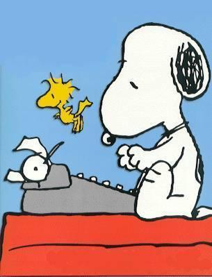 Snoopy clipart writing Art com