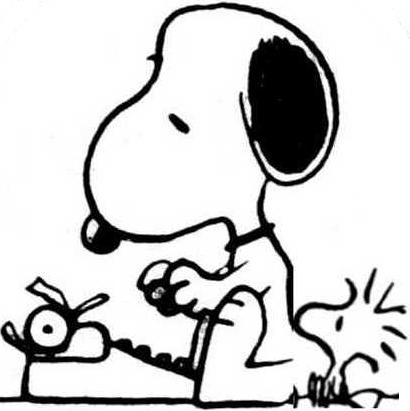 Snoopy clipart writing Snoopy Wiki jpg Image 1