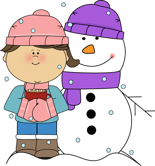 Outside clipart snow Drinking Clip Images Snowman Winter
