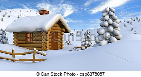 Cabin clipart old house Countryside cabin Stock of countryside
