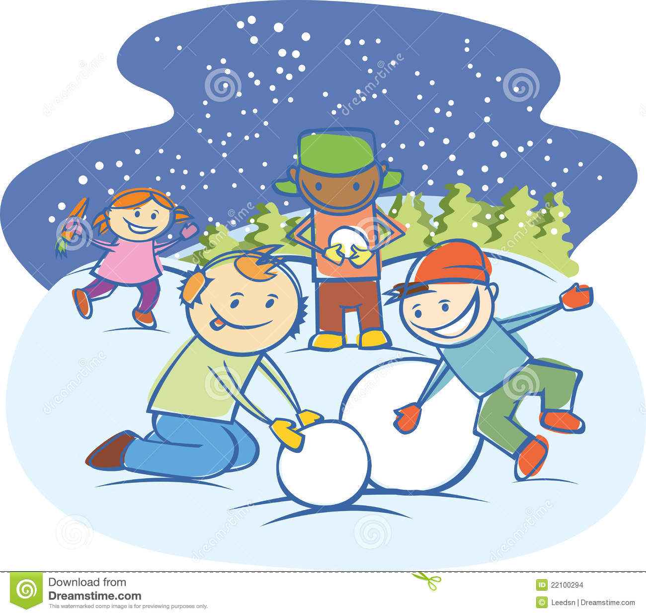 Outside clipart snow Playing Clipart Kids Clip Snow