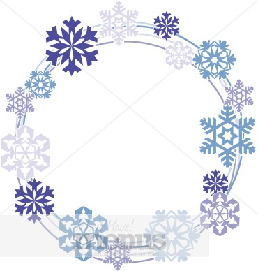 Wreath clipart snowflake Wreath Snow Clipart Clipart Menu