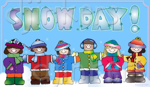 Winter clipart snow day Winter clip kids DJ Cute