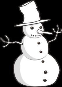 Black & White clipart snowman Clip Art Snowman at Outline