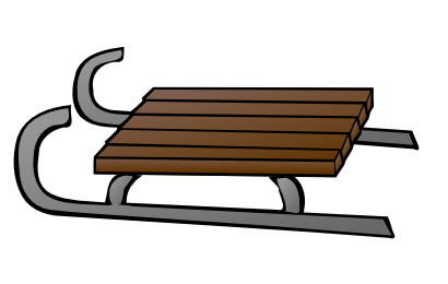 Brown clipart sled Clipart Snow Clipart Sled Sled
