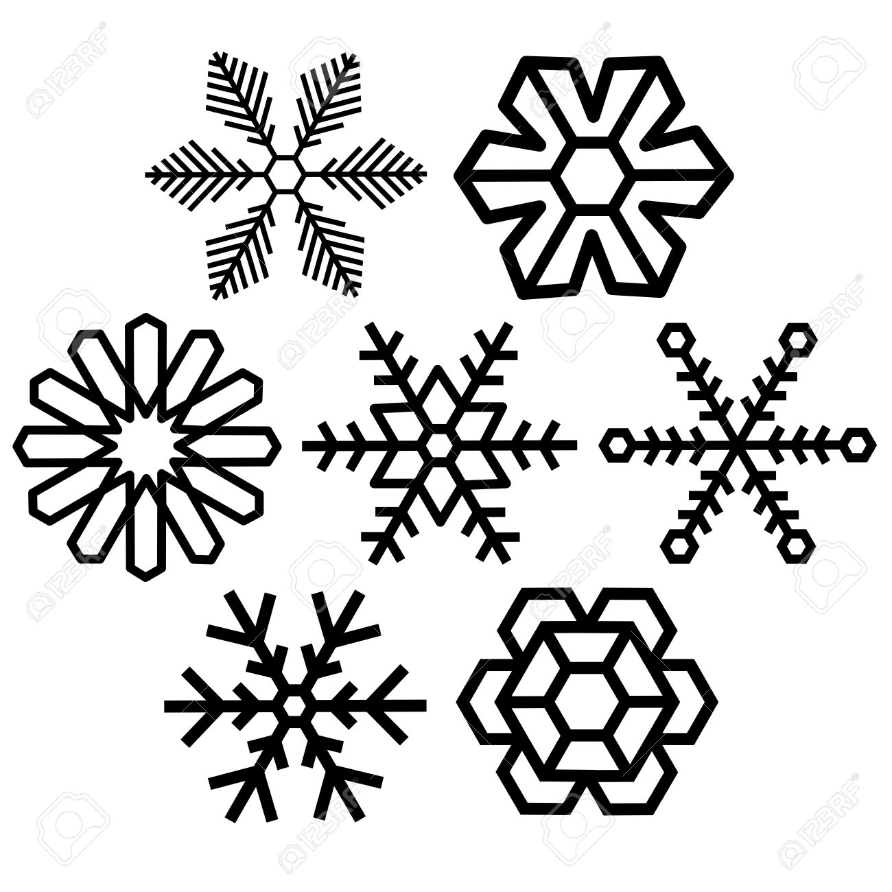 Crystal clipart black and white Snow Snow collection clipart Crystal