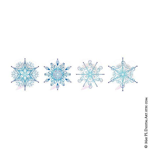 Snow clipart simple snowflake Www Gorgeous Snowflakes etsy Gorgeous