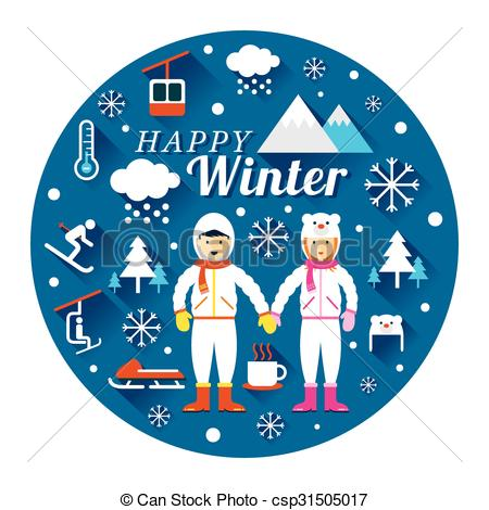 Winter clipart snowsuit Snowsuit Winter with  in