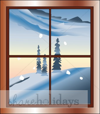 Windows clipart snowy Winter View a with View