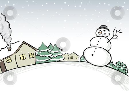 Snowfall clipart winter scene #14