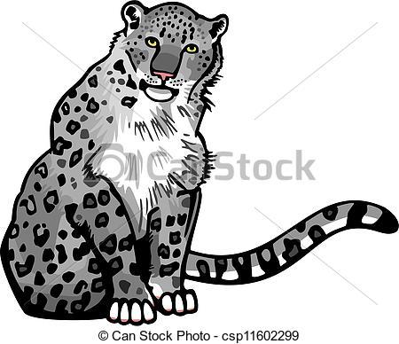 Snow Leopard clipart Of  csp11602299 snow Leopard
