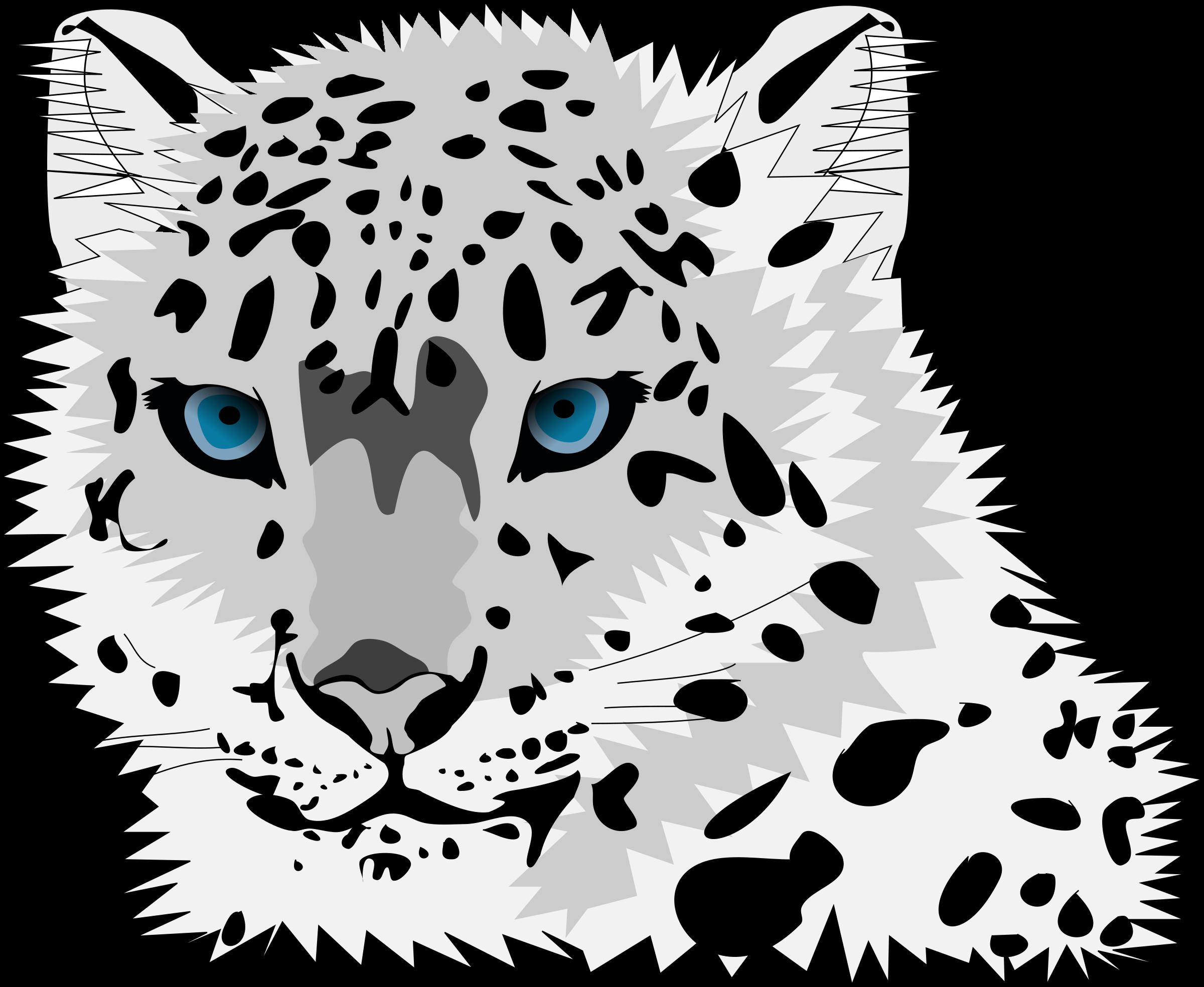 Snow Leopard clipart Clipart leopard snow snow leopard