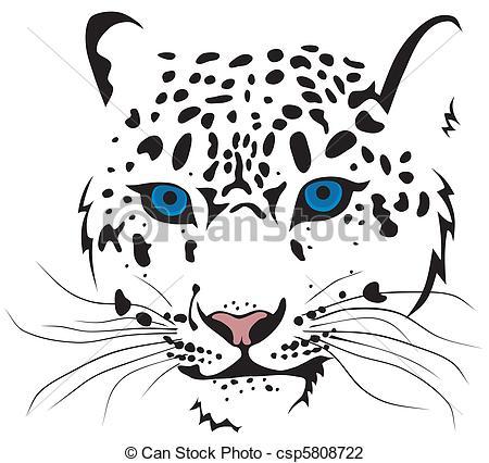 Snow Leopard clipart Snow Vector csp5808722 Illustration Bars