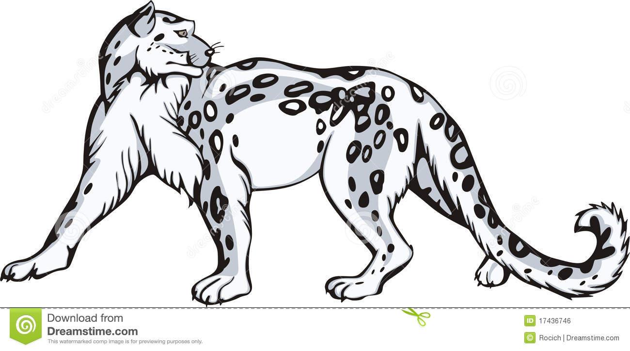 Snow Leopard clipart Snow Tribal Leopard Tribal Clipart