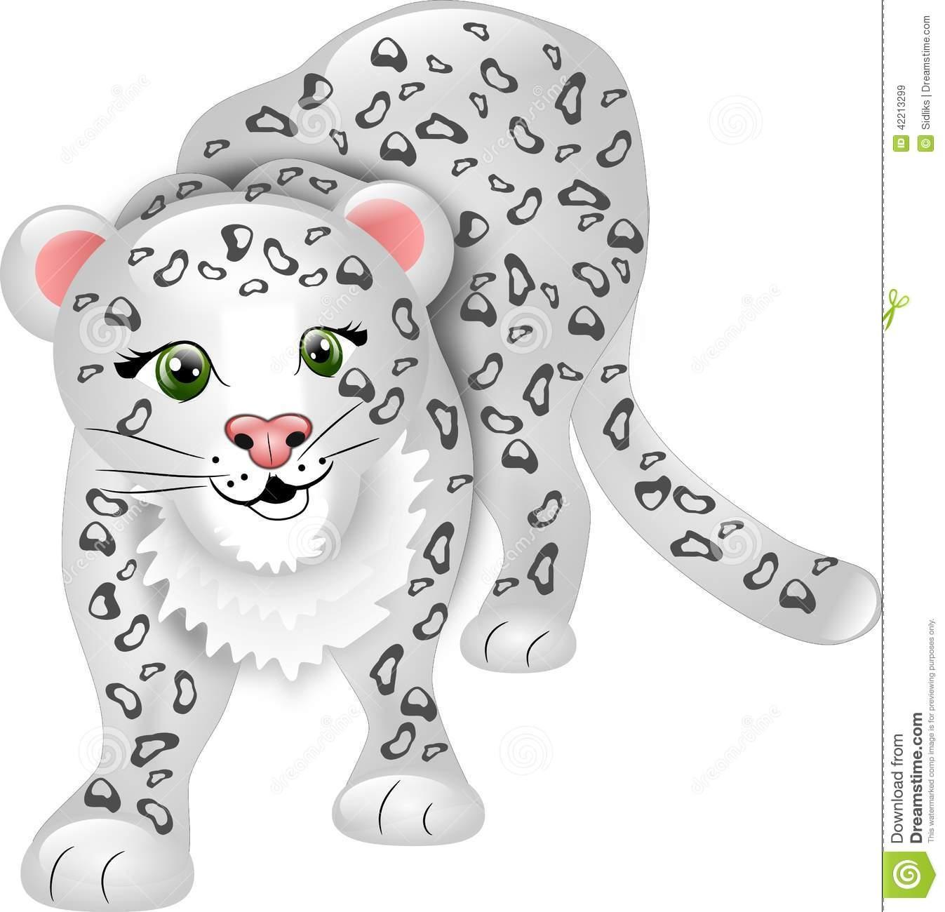Snow Leopard clipart amur leopard Leopard Snow Snow Clipart photo#13