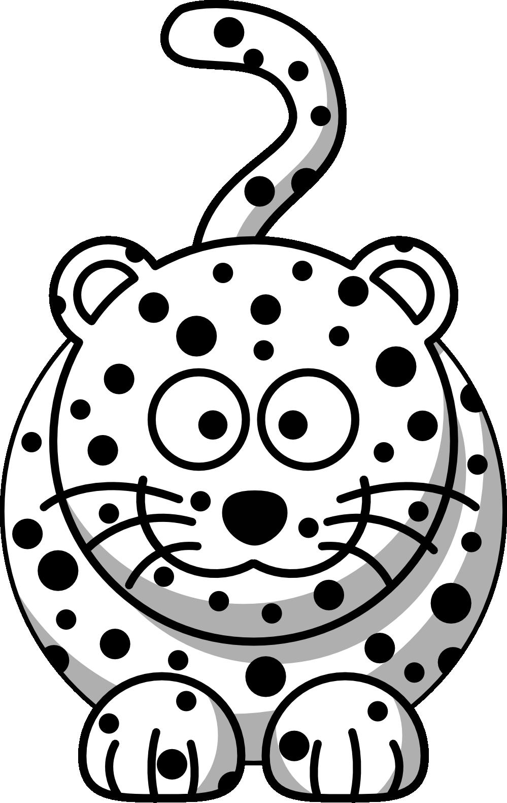 Amur Leopard clipart black and white Black Leopard For Download Art