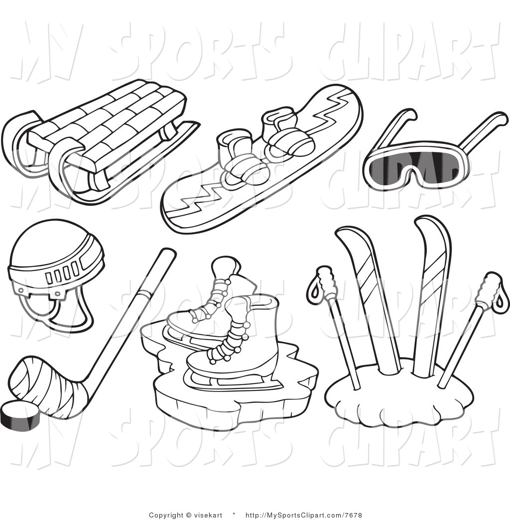 Skiing clipart ski snowboard Sports of Goggles Sled a