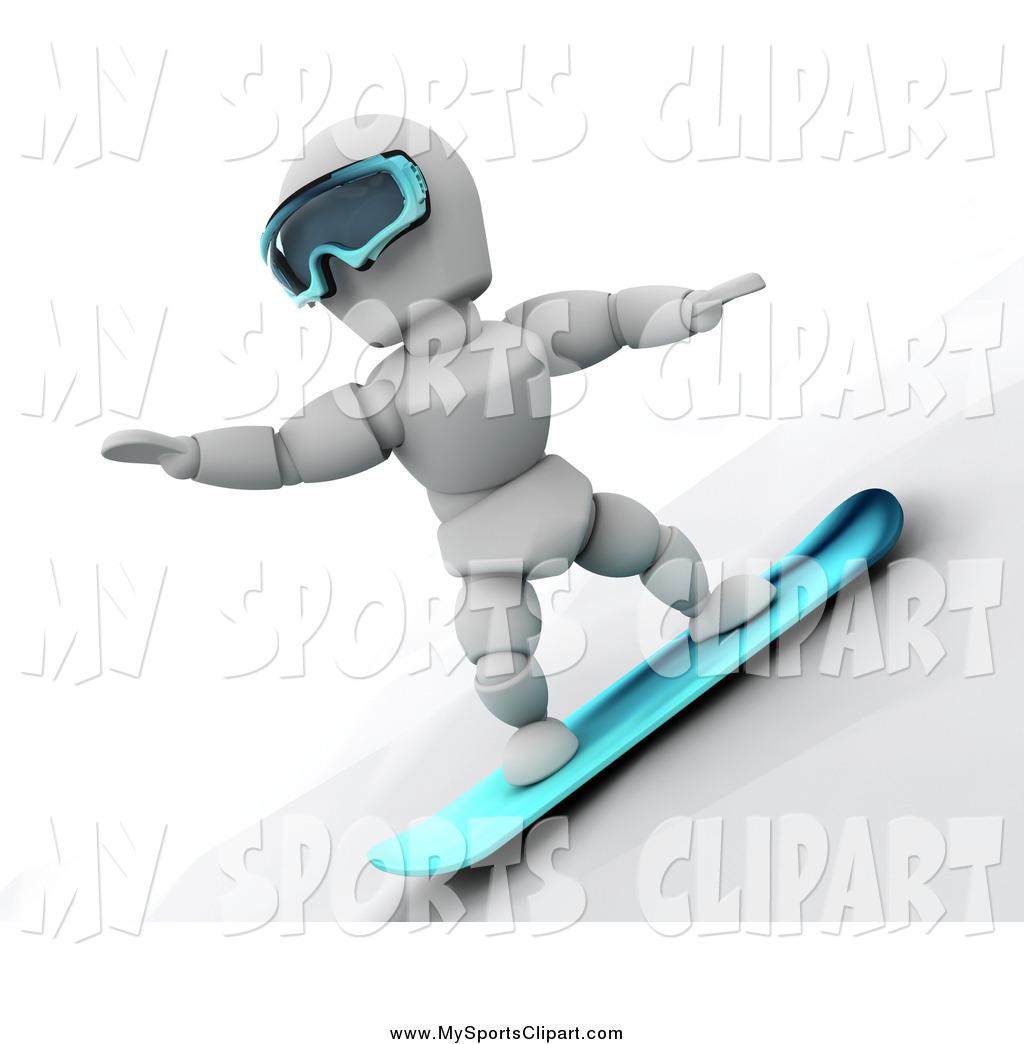 Snowboarding clipart man Sports Art Goggles Man a