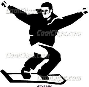 Snowboarding clipart man Man snowboard snowboard art Vector