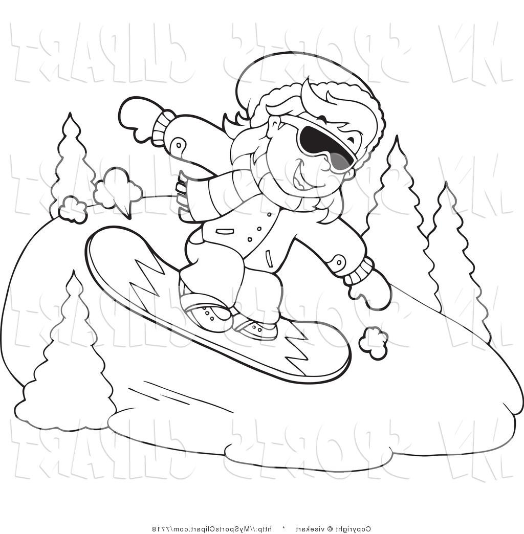 Snowboarding clipart shoe Clip borders White Vector And