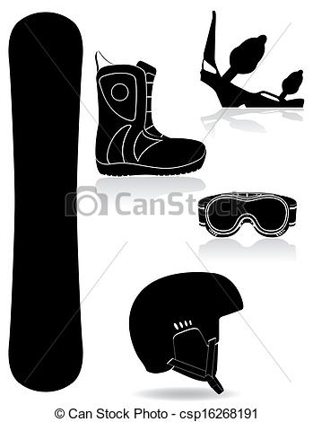 Snowboarding clipart shoe Of set snowboarding on for