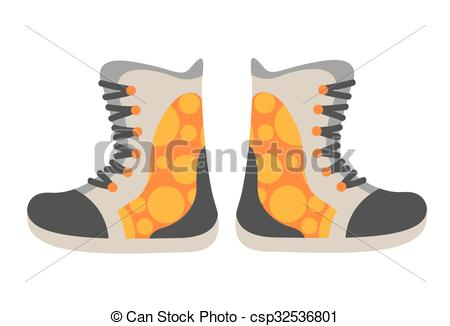 Snowboarding clipart shoe Snowboard csp32536801 of clothes Snowboard
