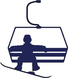 Skiing clipart chairlift #7734: Sticker chairlift snowboarder Snowboarder