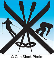 Snowboarding clipart skiing Skis Clip  sky free
