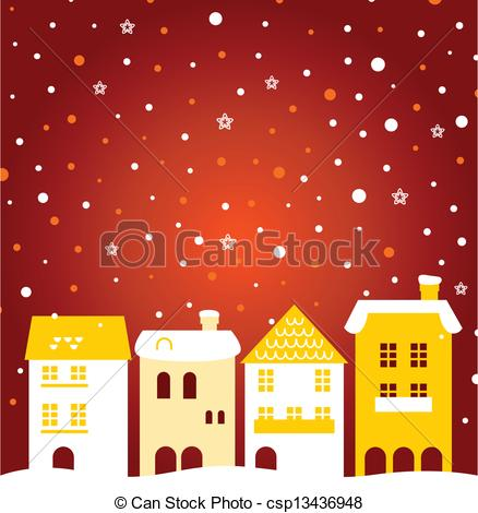 Town clipart christmas town #4