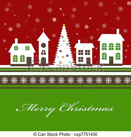 Town clipart christmas town #3