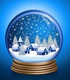Snowfall clipart christmas village #6