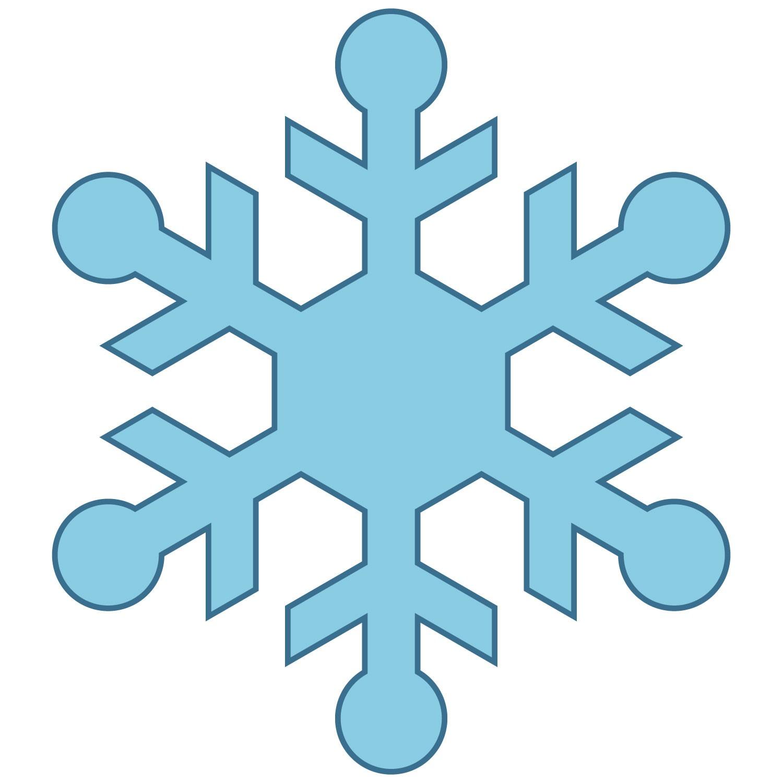 Snowman clipart simple 9 Snowflakes Clipartix Snowflakes 9