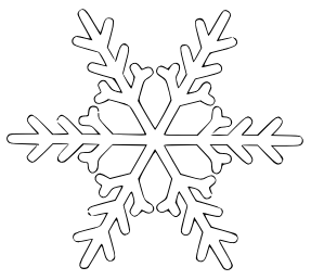 Snowflake clipart Domain Clipart Snowflake Free