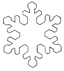Templates  clipart snowflake #1